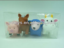 EN71 certfied factory-lovely farm animals plastic bath toy