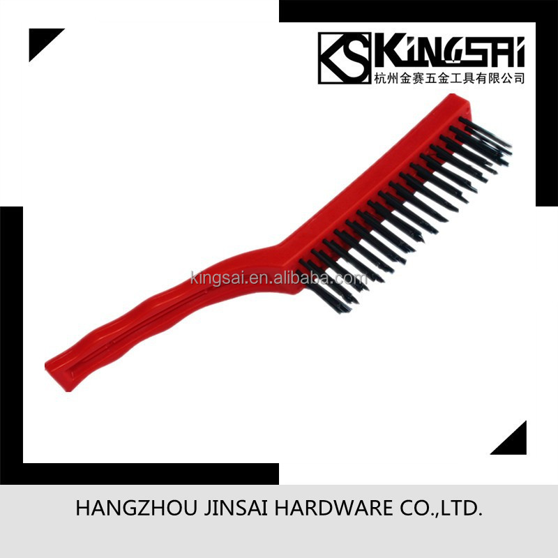 Steel wire brush with plastic handle wire brush Deburring