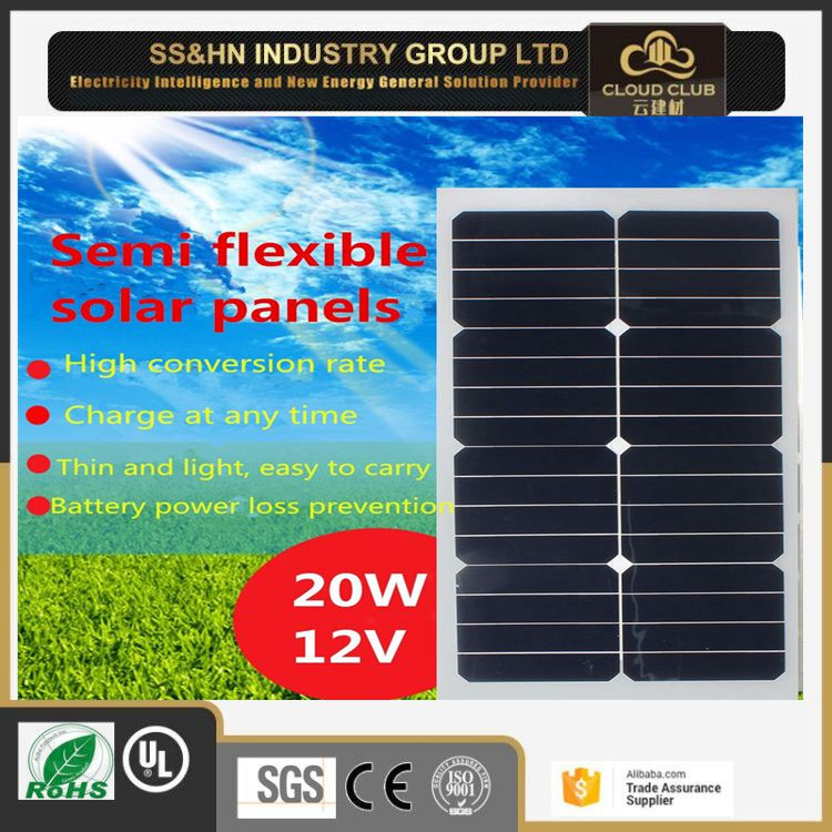 Cheers! Thin Film Solar 12V/60W Mono/Semi Flexible Solar Panel With Lowest Price