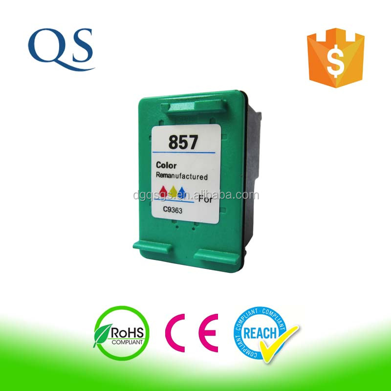 Recycle ink cartridge Compatible Tri-color Inkjet Cartridge for HP 134/C9363H office worker printer