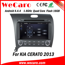 Wecaro WC-KU8051L Android 4.4.4 car multimedia system double din for kia cerato dvd audio system GPS 2013 2014
