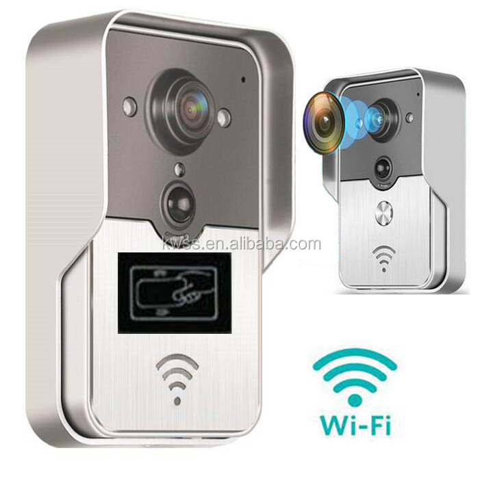 wifi video 7 inch screen buttom calling ID card access remote control unclock door beel