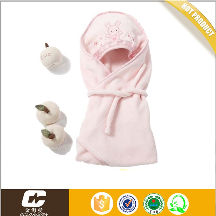 1PCS Baby Hooded Swaddle Wrap Warm Wool Knitted Swaddling Blanket Sleeping Bag