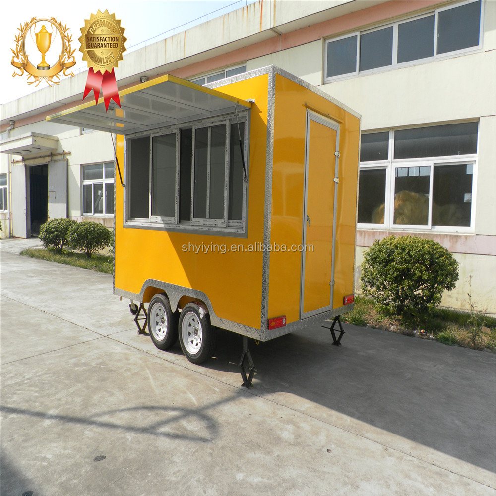 Yiying factory self food ordering mobile food truck container/ deep fryer food cart / mobile food trailer