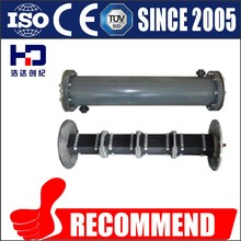 Titanium anode cell chlorinator for pool water electrolysis