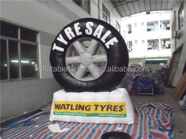 Durable PVC Car Tire Inflatable Advertising Model / Inflatable Tyre Model