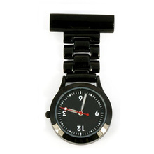 Unisex FOB Nurse Watch-Gunmetal with black dial luminous hands
