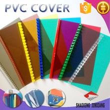 A4 hot sale pvc cover plastic sheet, plastic cover for book binding