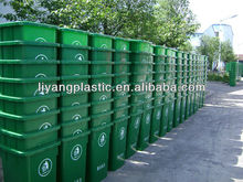 color coded plastic garbage bin with wheels