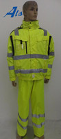 High visibility warning safety reflective clothing for traffic officers