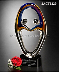 Together Recognition Award art glass trophy for souvenir gifts