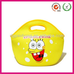 2013 waterproof fitness yellow lunch bag with neoprene for kids(factory)