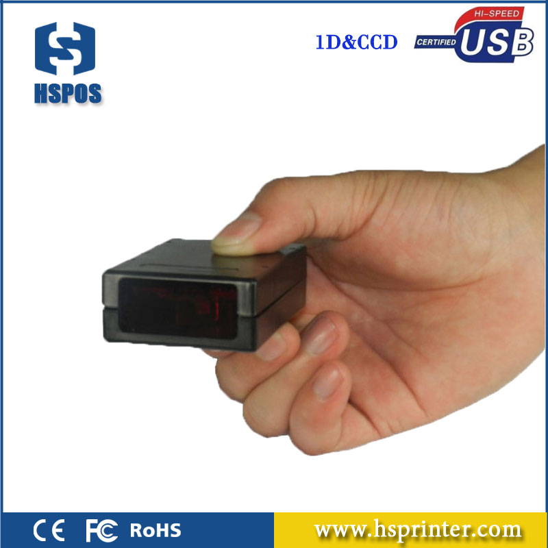 Mini 1D CCD scanner portable barcode reader with USB interface high quality scan module for warehousing, banks and telecom