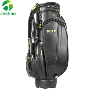 High Quality Custom made Logo Genuine PU leather Men's Golf Cart Bags for golf team