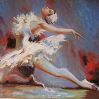 China printing company high quality custom canvas paintings abstract dance wall art