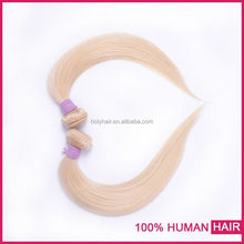 Full cuticle factory supply virgin remy human noble gold weaving hair