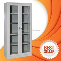 steel office furniture glass door display cabinet