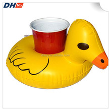 PVC inflatable ice bucket Inflatable water drink cup holder Inflatable ducks ice bucket