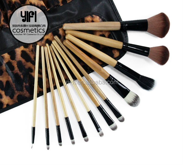 YIFI cosmetics 2014 new products dropshipping synthetic hair+goat hair custom cosmetic brushes