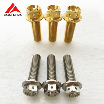 M6/M8/M10 anodizing titanium colored bolts for Motorcycle