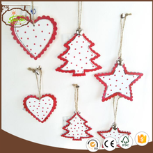 plywood colorful wood craft christmas tree ornaments