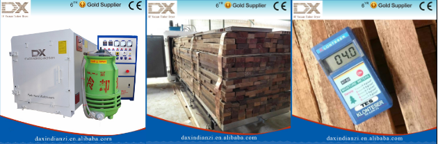 Radio frequency vacuum timber dryer