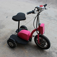 chinese adult three wheel merlot swing tri scooter