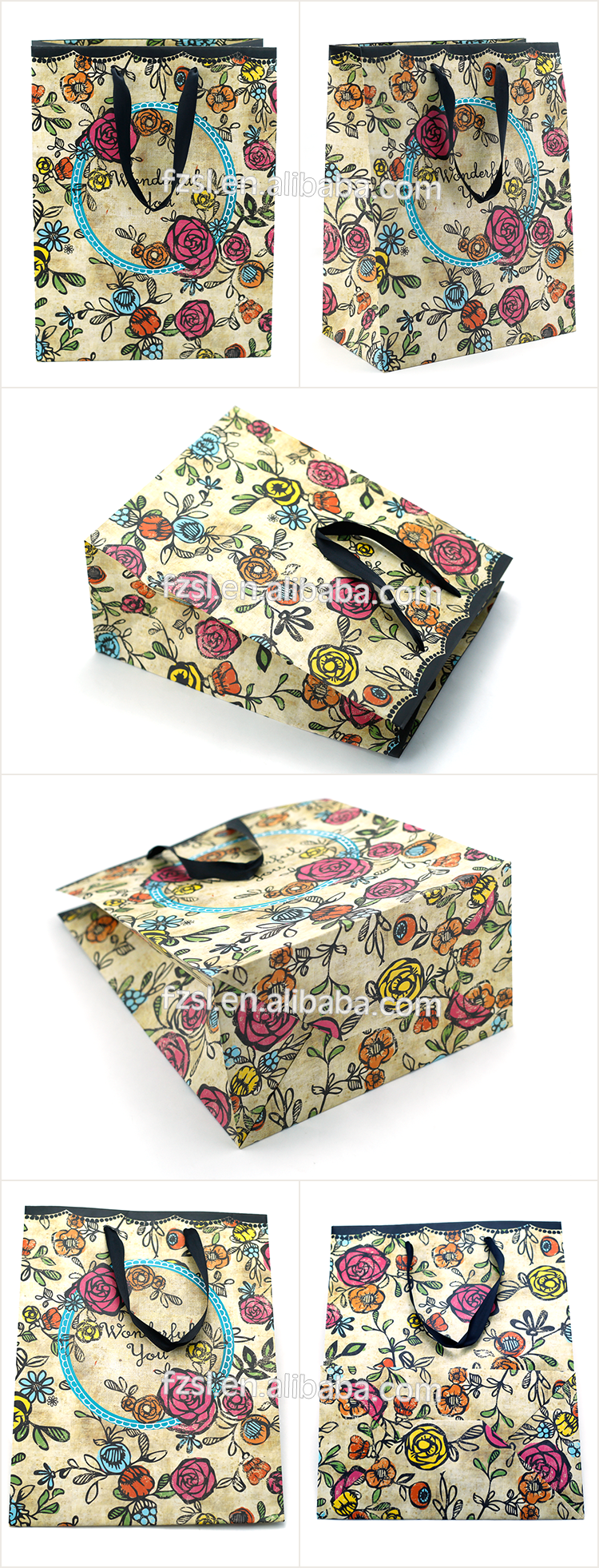 PSBSL1721 high quality paper carrier bag