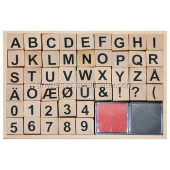 best price Custom wooden stamp +2 ink pad set for kids