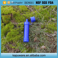 personal survival water filter straw for hiking emergency first aid kit