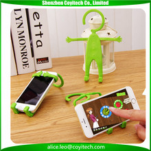Man shape colorful funny cell phone holder for bicycle, desk, kitchen, bathroom