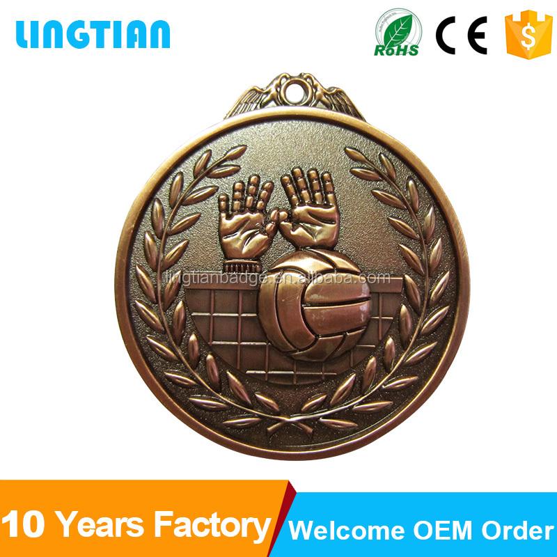 High quality gold and silver plated sport volleyball souvenir items