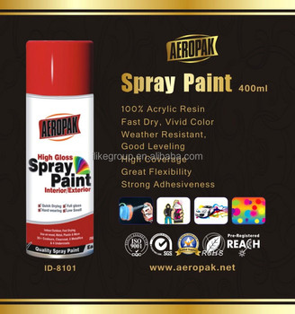 Automechanika Shanghai Aeropak Spray paint Colorful Fast Dry High Glossy aerosol automotive paint