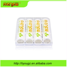 4PACK RENEW brand high capacity AA 2950mAh rechargeable batteries for toys . remote. camera
