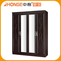 PVC cheap Wardrobe bedroom furniture for sale (jk-9435-4)