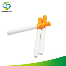 STARBUSS 78mm Cigarette Shape Ceramic Smoking Dugout Pipe Filter Bats Sniffer Tools Smoke Accessories Holder