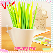 Office stationery soft silicone grass advertising ball pen