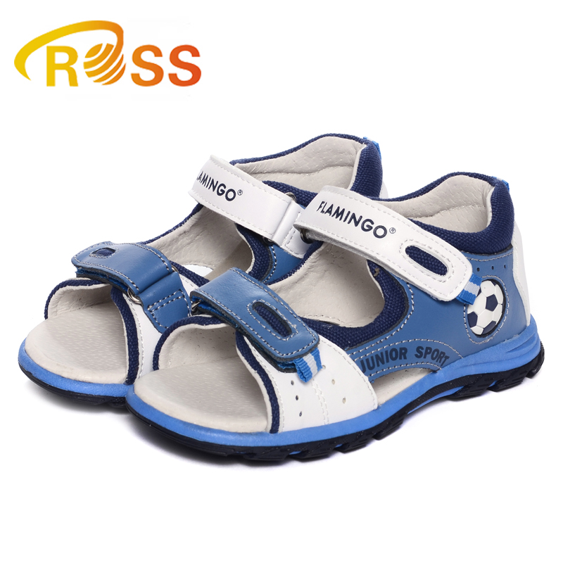 Soccer printing magic type sandals for children orthopedic shoes