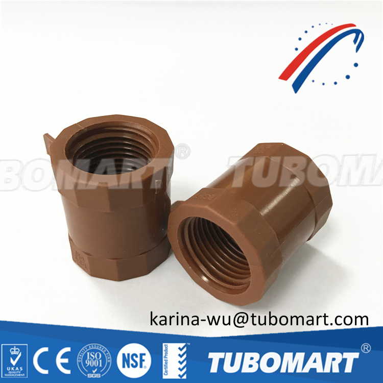 BSPT thread plumbing pipe fitting PPH pipe fitting union plastic for water system