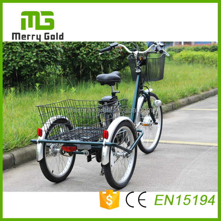 Big e bike 250w steel frame Tricycle adult pedal electric trike for cargo