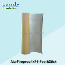 Aluminum foil XPE foam insulation fireproof easy to peel and stick