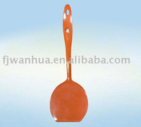 Red plastic long handle spoon