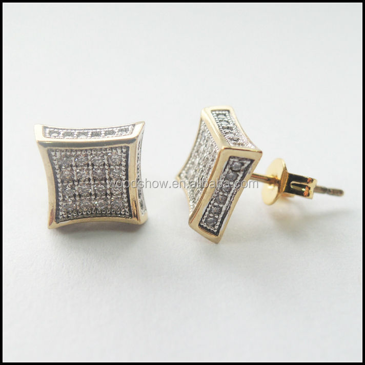 hot sale clear cz micropaved earring studs