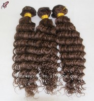 Unprocessed Double weft Brazilian Human Hair Extensions deep Weave 100% Remy Human Hair 30/33 blendd color