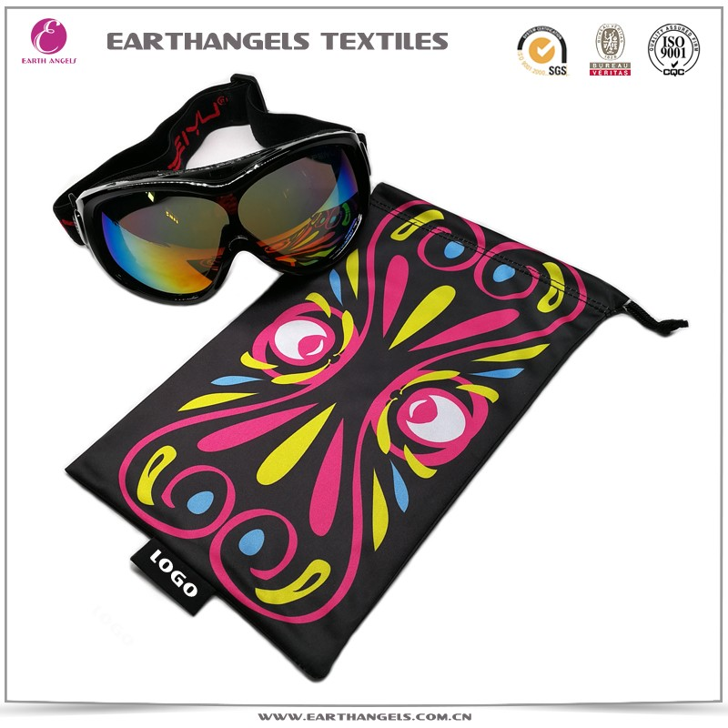 heat transfer printing microfiber goggles pouch