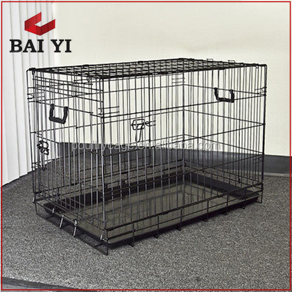 "NEW 42"" Dog Crate 2 Door/Divide /Tray Fold Metal Pet Cage Kennel"