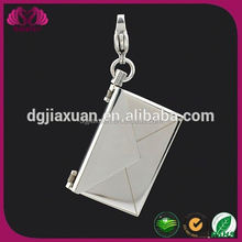 Hot Stainless Steel Dangle Letter A Charm