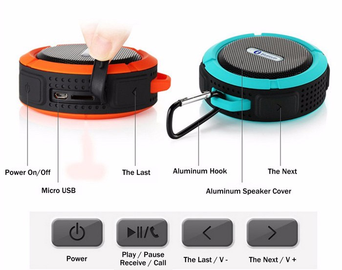 C6 High Quality Excellent Sound Wireless Bicycle Bluetooth Speaker Backpack,Portable Wireless Bluetooth Mini Speaker