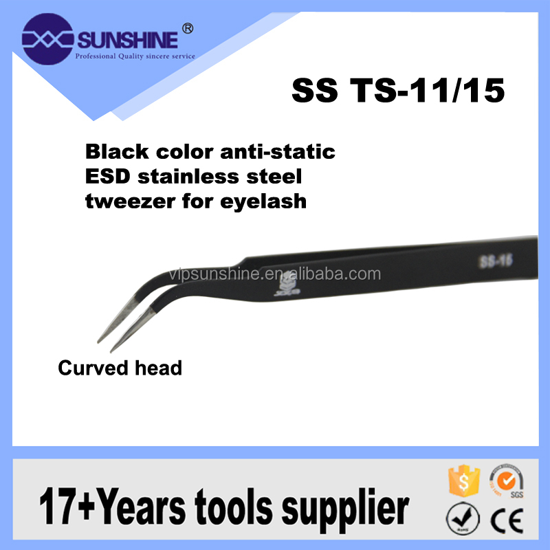 SS TS-15 Anti-Static SMD Stainless Steel curve Tweezer Exclusively for repair