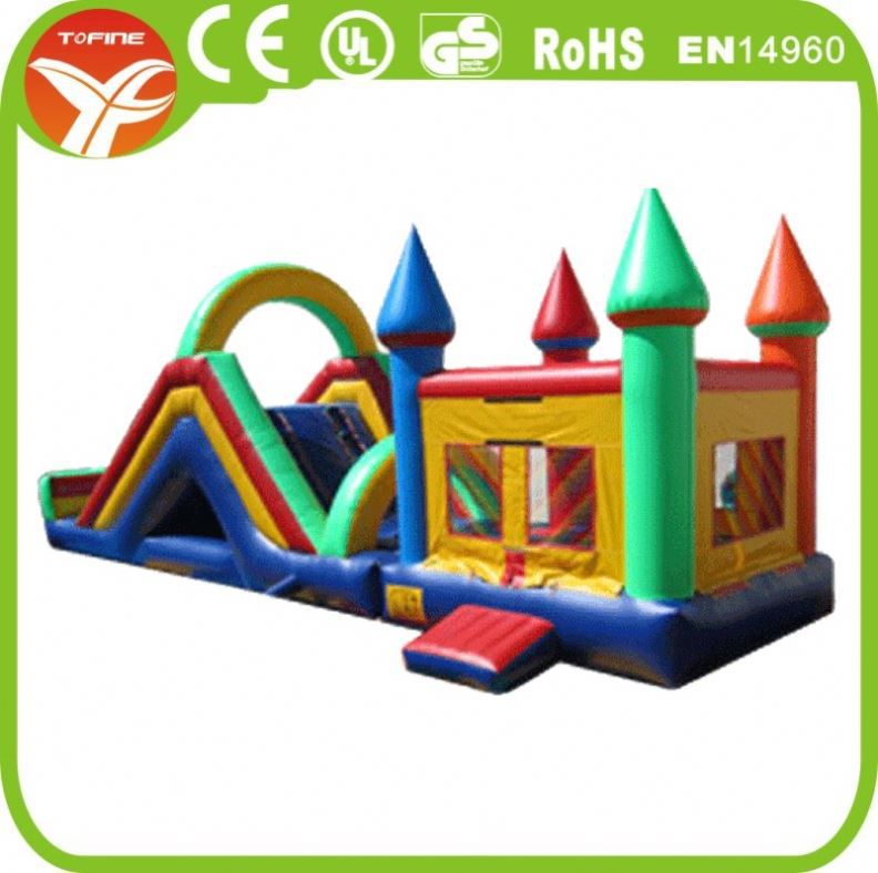 Carton Character Inflatable Double Dry Slide For Sales